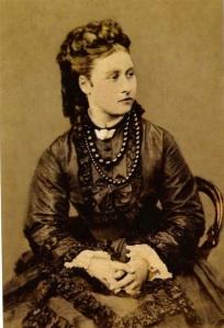 Queen Victoria's daughter Princess Louise wearing jet beads