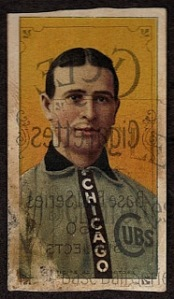 misprinted 1909-11 T206 baseball card.  Commonly referred to as a 'scrap.'