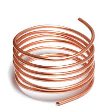 copper wire. Old copper often tarnishes green