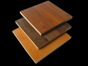 Pieces of Veer wood, showing how the surfaces and edges are of different wood.