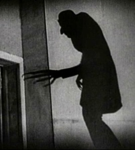 Movie monsters, such as the vampire in 1922's Nosferatu, are depicted as deformed and  unbalaced.  Humans naturally get a negative even repulsed reaction from this.