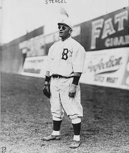 Brooklyn Dodgers baseball player Casey Stengel
