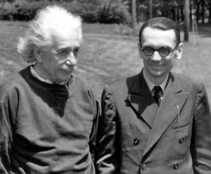 Kurt Godel (right) and Albert Einstein at Princeton's Institute for Advanced Study
