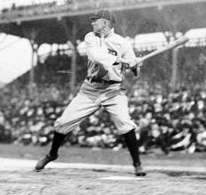 Ty Cobb batting circa 1910