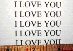 This says 'I love you' many times