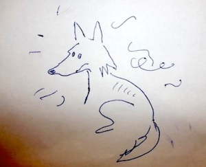When you label this picture as 'a fox' you both ignore or 'bleep over' the marks around the fox design and the fact that it has no front legs.