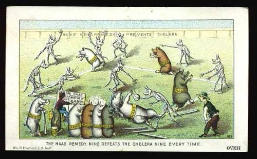 Victorian baseball trade card