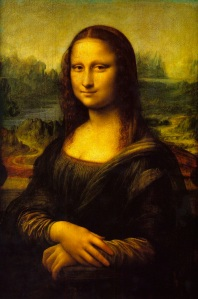 Even though the figure in the left painting literally has no legs, we perceive Mona Lisa as a whole person and not as some freakish amputee. This mimics how we automatically perceive as whole a real person standing behind a fence or sitting behind a desk. We naturally and unconsciously  fill in unseen information in our minds.