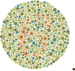 Whether this visible or invisible depends of your color vision.  The number is invisible to some.