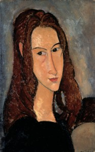 1918 Modigliani portrait of Jeanne_Hébuterne
